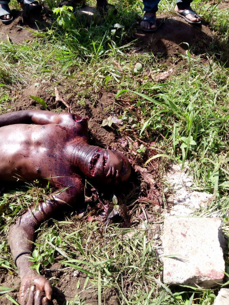 Man butchered to death in Rivers state (graphic photos)