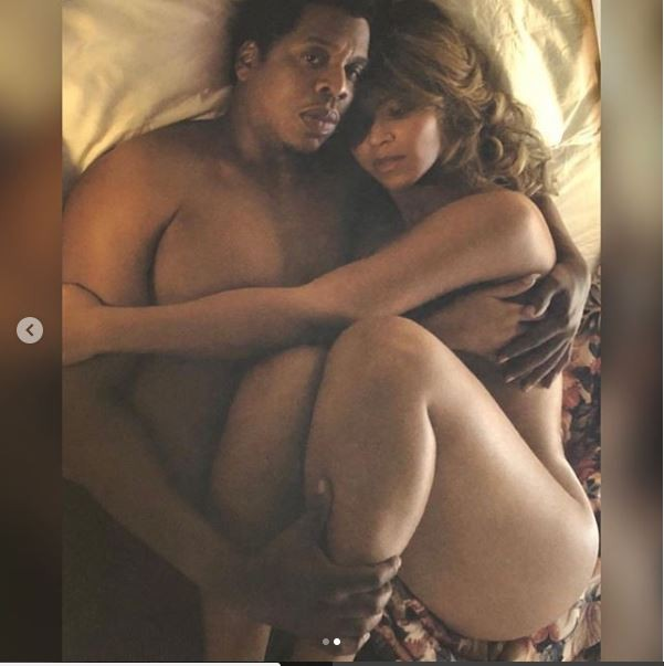 Jay-Z and Beyonce go completely naked in another racy bedroom photo. 18+