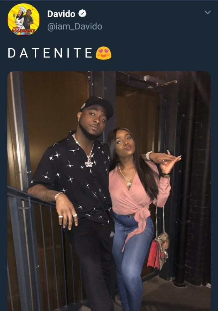 Davido and Chioma step out for romantic date night