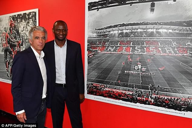 Arsenal legend Patrick Vieira becomes new coach of French side Nice