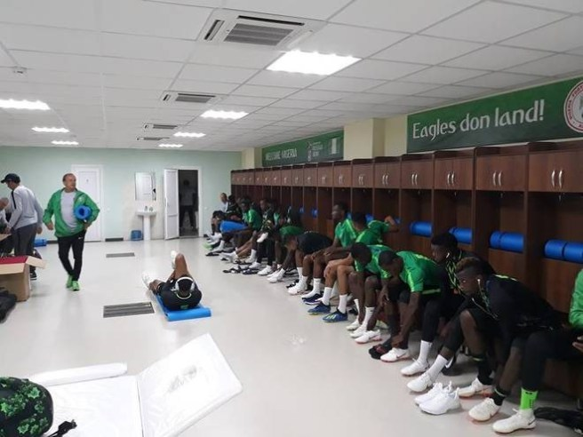 ?Eagles don land!? - Super Eagles locker room in Russia customized in Pidgin-English (Photos)