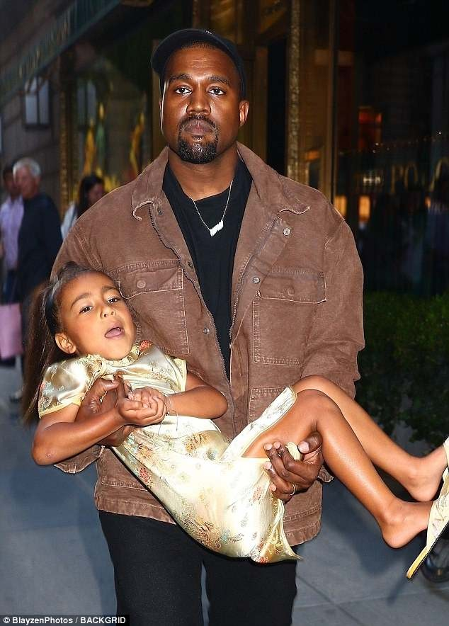 Kanye West and Kim Kardashian step out in style as they accompany North to her fifth birthday party at Polo Bar (Photos)