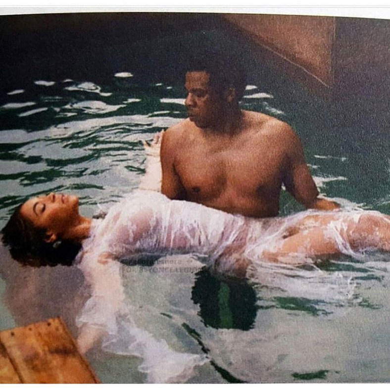 Jesus and John the Baptist? These photos of Jay Z and Beyonce has people enraged!