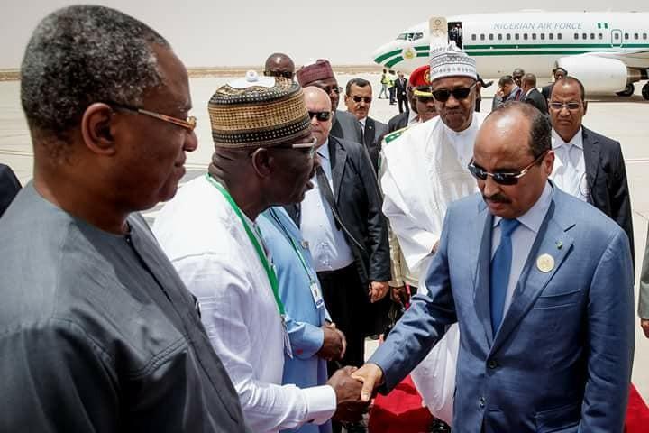 Photos: President Buhari arrives Mauritania ahead of the 31st Session of the AU Summit