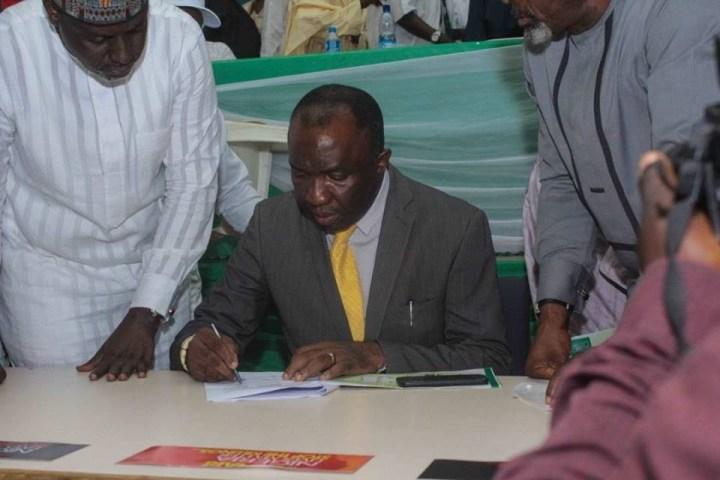 Atiku Abubakar, Olu Falae, Ekweremadu, FFK, others attend signing of memorandum of understanding between PDP and 38 other parties