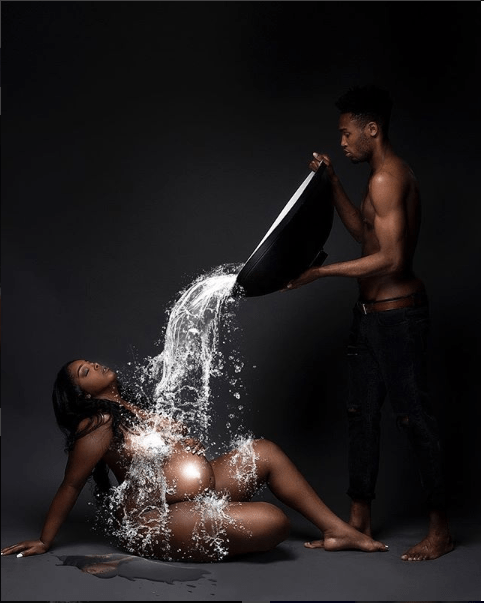 5b45ce86c233e - Inspiring Photos Of Beautiful Pregnant Ladies Who Went Creative In Their Maternity Shoot