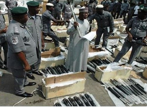 Photos: Another shipment of guns and ammunition intercepted at Tin-Can Port in Lagos