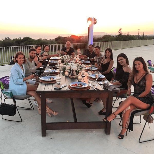 C. Ronaldo celebrates £100million move to Juventus with family & friends as they enjoy dinner together