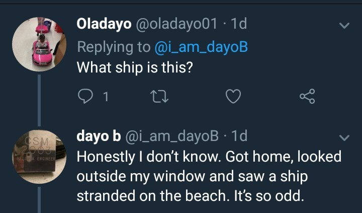 Unknown ship spotted in Elegushi beach (photos)