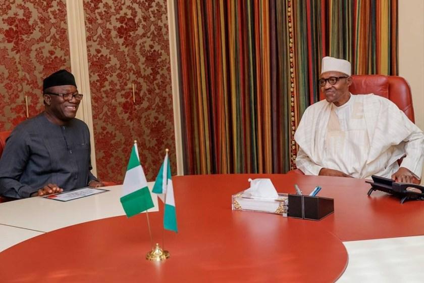 President Buhari receives Governor-Elect of Ekiti State, Kayode Fayemi in Abuja (Photos)