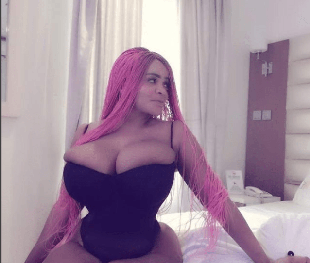 Cossy Orjiakor Flaunts Her Gigantic Boobs And Curves In Sexy Lingerie Photos