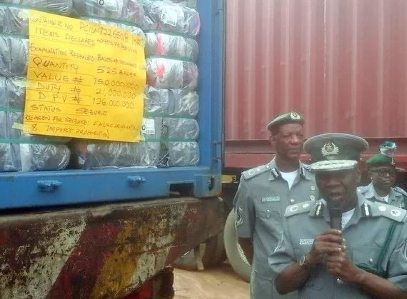 Nigerian customs impounds 498 cartons of codeine syrup (Photo)