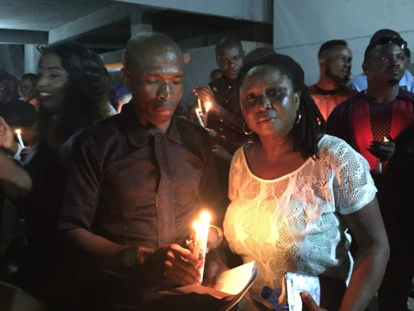 Opa Williams, Mr Ibu, Cornel Udofia, others turn up for the candle light procession in honour of late Nollywood filmmaker, Bambino Anachina