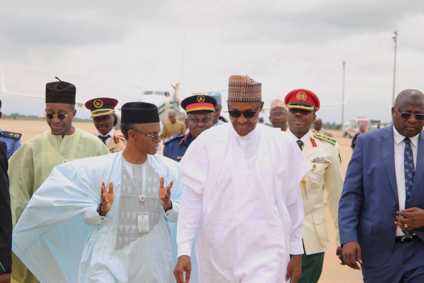 Photos: President Buhari visits Kaduna state, to attend Graduation ceremony of Armed forces command and staff college