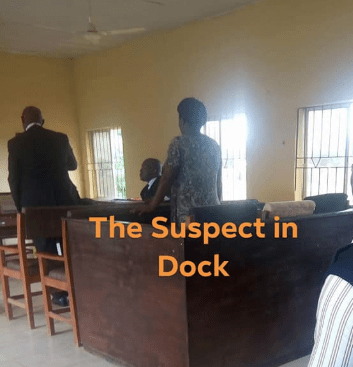 Woman appears before a court for allegedly biting man