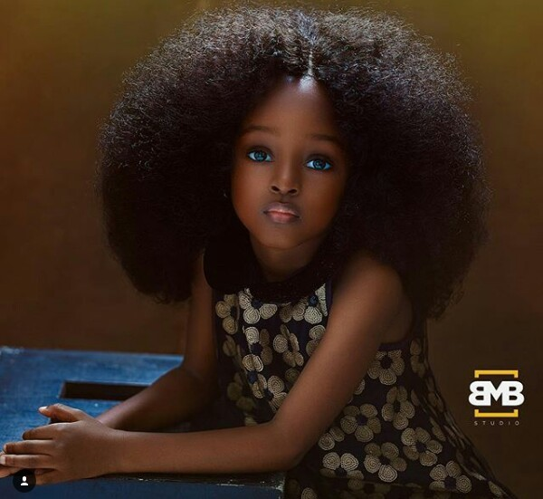 "This 5-year-old Nigerian child is being touted as the ""Most beautiful girl in the world"""
