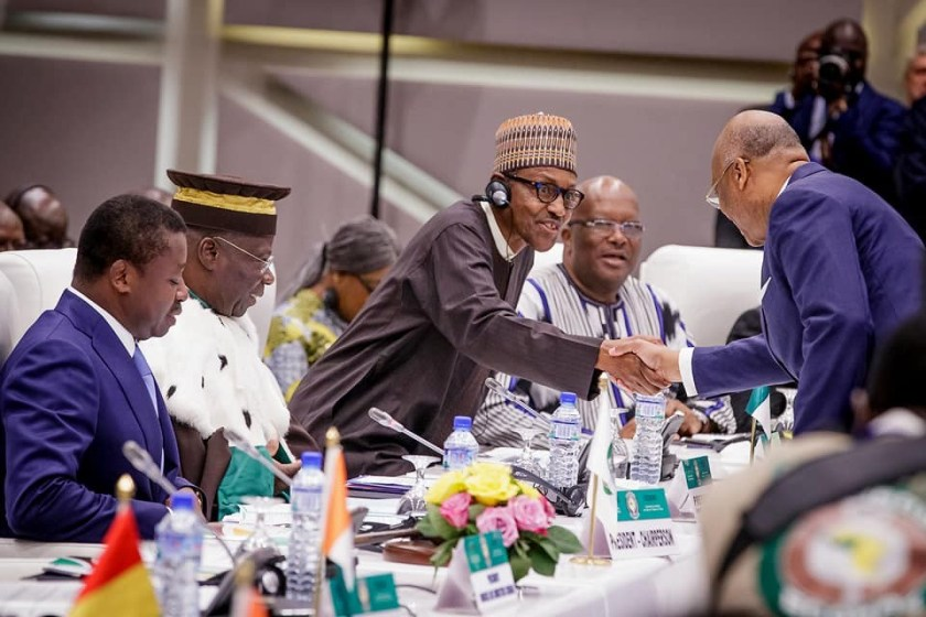 Photos of President Buhari?at the 53rd Ordinary Session of the Authority of Heads of State and Government of the ECOWAS