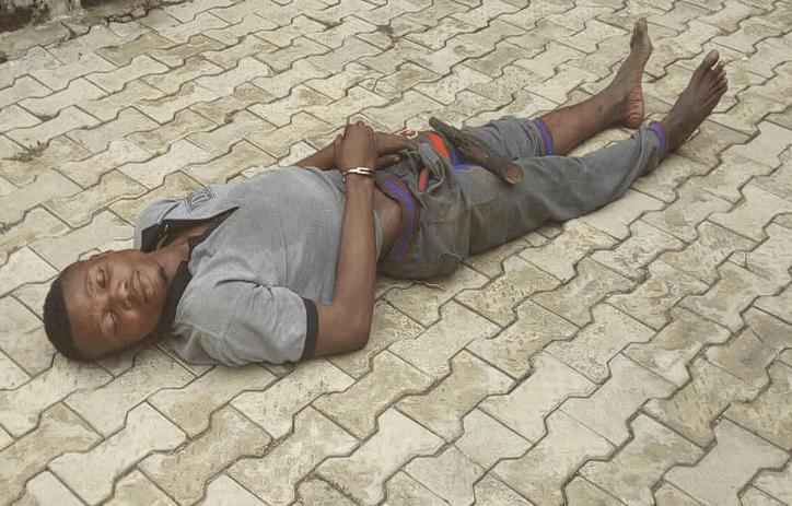 Kidnapper falls asleep at his victim