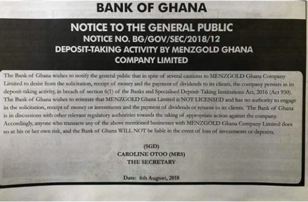 Bank of Ghana issues scam alert of popular businessman,?Nana Appiah Mensah ahead of his launch in Nigeria