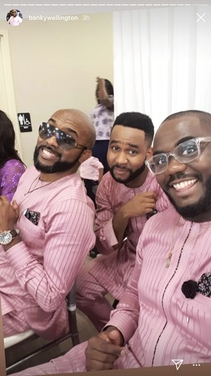 BankyW all smiles as he joins his parents to celebrate their 40th wedding anniversary (photos/video)