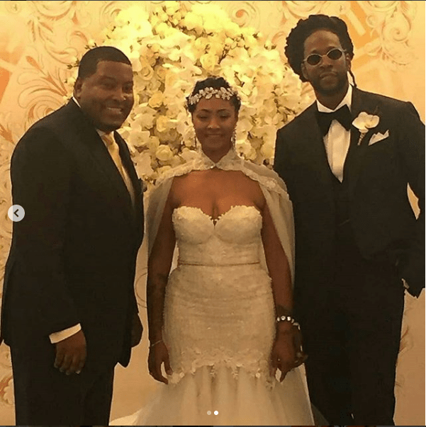 Rapper 2 Chainz marries his longtime girlfriend Kesha Ward in star-studded Miami wedding (Photos)