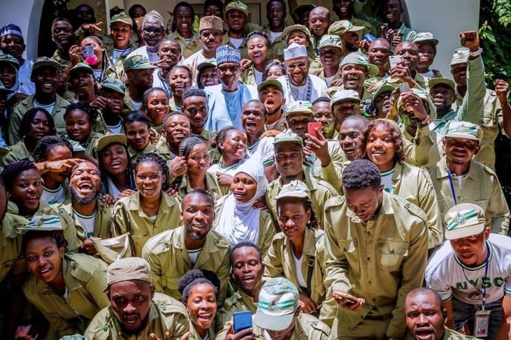 Sallah: President Buhari hosts NYSC members in Daura