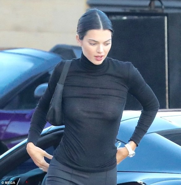 Kendall Jenner links up with her father Caitlyn Jenner for sushi dinner in Malibu (Photos)