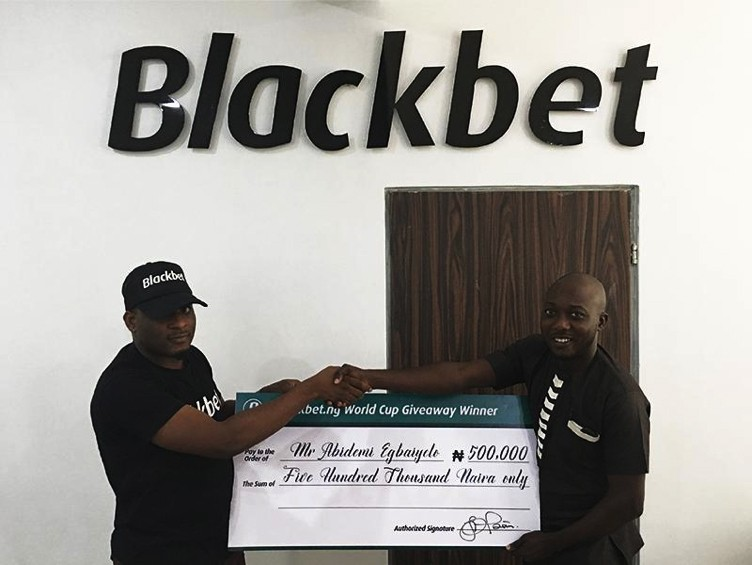 First time player wins N500,000 in Blackbet.ng?s world cup giveaway
