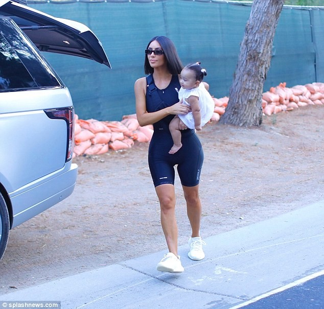 Kim Kardashian steps out with her adorable daughter Chicago West in LA (Photos)