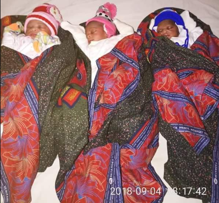 Woman gives birth to triplets after 17 years of marriage