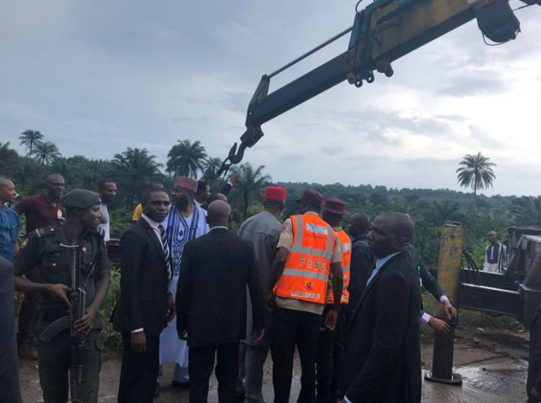 Bukola Saraki stops his convoy to help accident victims in Imo State