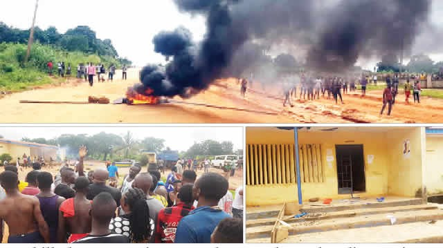 Photos: Two killed, journalist seriously injured as police, irate youths clash in Anambra over death of 17-year-old boy