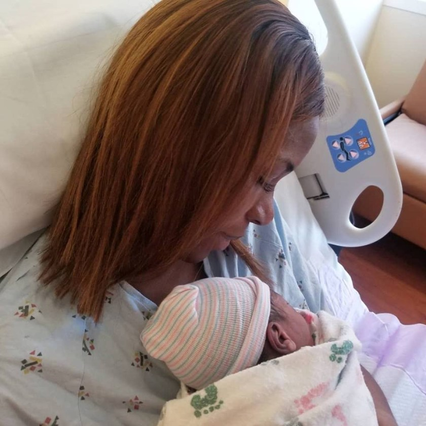 Linda Ikeji shares first photos with her son, Baby J