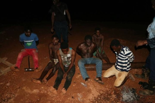 Photo: Police raid popular brothel in Ghana; arrest 12 persons including 23-year-old Nigerian sex worker