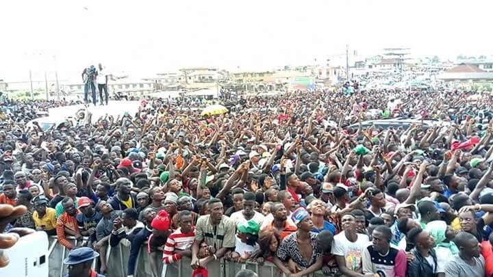 Photos; See the crowd that turned out for the PDP campaign rally in Osun today