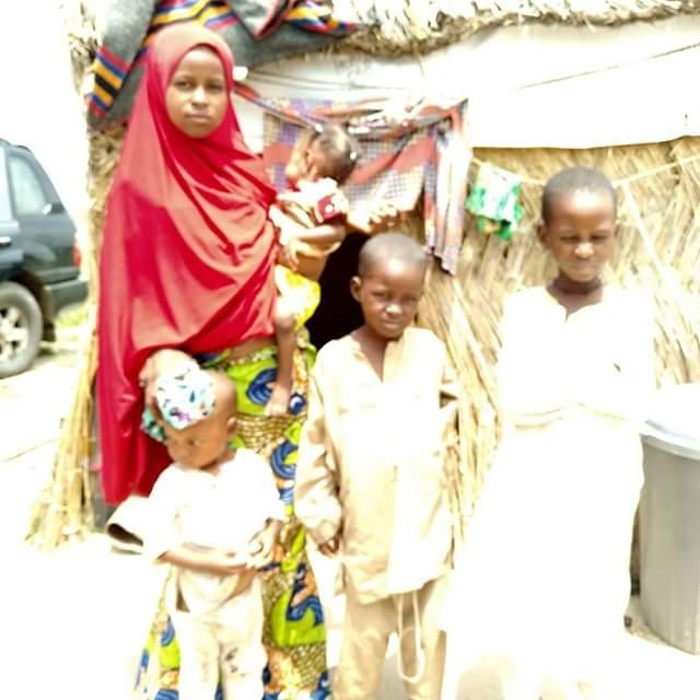 Sad story of a brave 12-year-old Nigerian orphan left to care for 4 children after the death of her elder sister in Borno