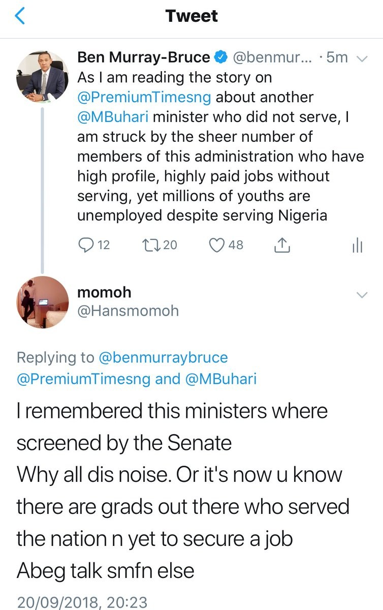 Ben Bruce gives reason why Ministers with NYSC certificates can pass through National Assembly screening without being detected