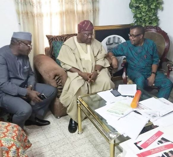 #OsunDecides: 24-hours after meeting with PDP, Iyiola Omisore also meets with APC leaders (Photo)