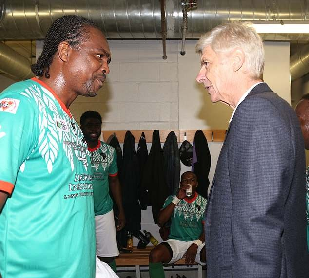 Arsene Wenger and Kanu reunite at his charity match in London
