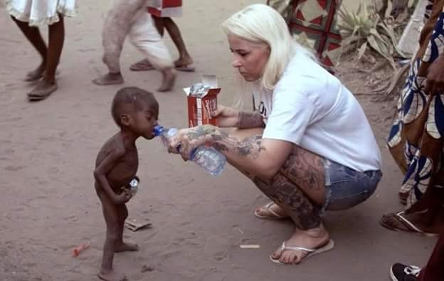 """""""Nigerian children who were tortured, abandoned by their families have protected and loved my son"""" - Danish aid worker Anja Ringgren Loven"""