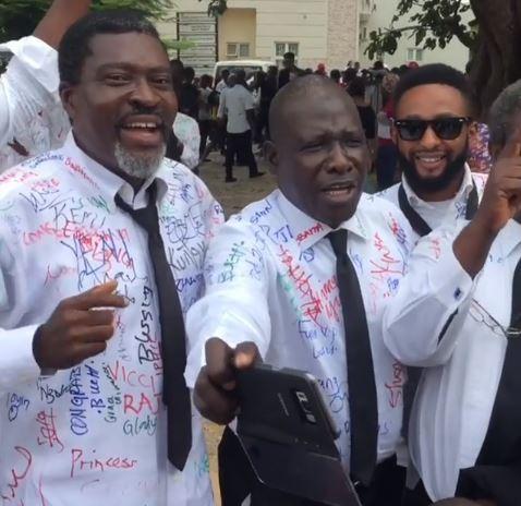 5-years after, veteran Nollywood actor, Kanayo. O. Kanayo bags a degree in law (Photos)