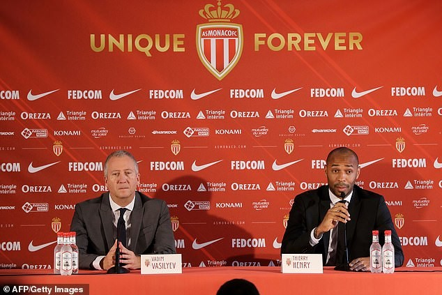 Thierry Henry has officially been unveiled as the new coach of French club, Monaco.