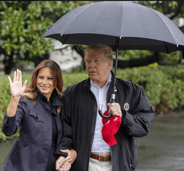 Wendy Williams chides Donald Trump after he was filmed holding umbrella to himself while Melania got drenched in rain (video)