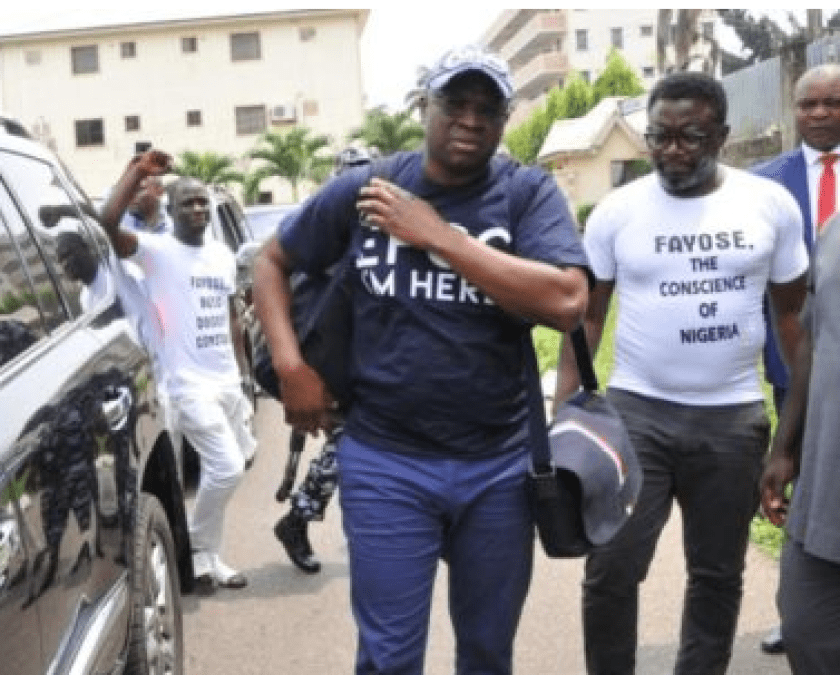 EFCC moves Fayose to Lagos for trial