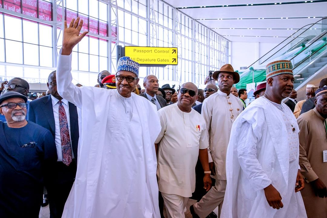 Photos: President Buhari commissions a new Terminal Building at the Port Harcourt International Airport