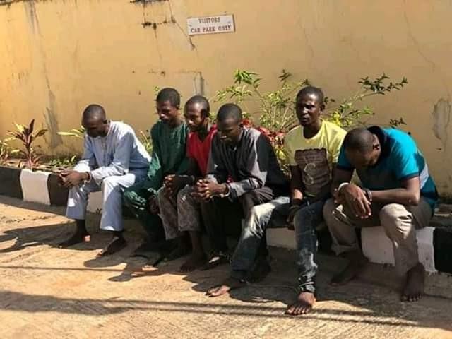 Photos: SSS parades six suspected killers of Agom Adara in Kaduna