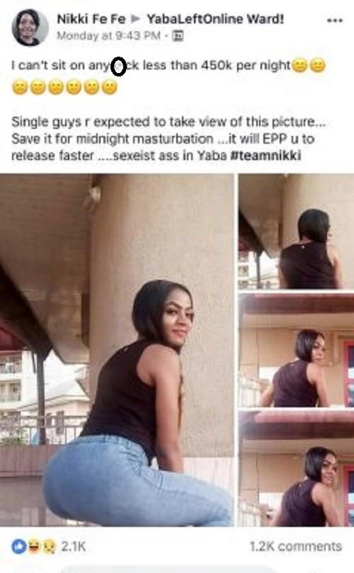 'I can't have sex with a man for less than N450k per night' - Nigerian slay queen reveals 1