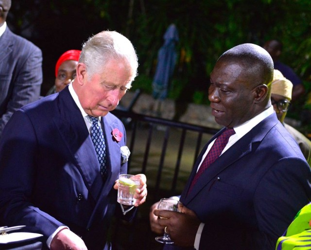 Photos of DSP Ekweremadu and Prince Charles in Abuja