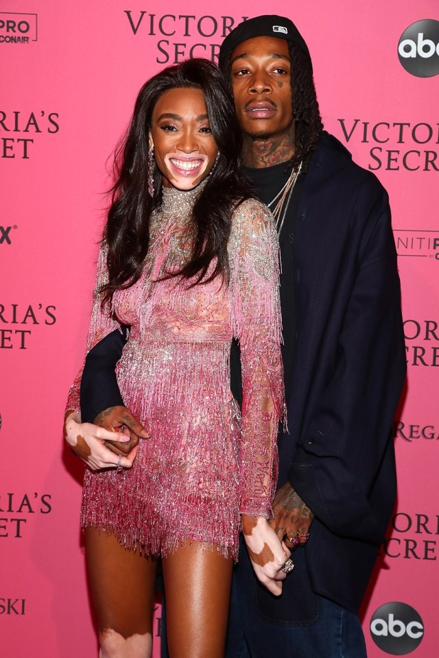 Wiz Khalifa and model Winnie Harlow loved up at Victoria