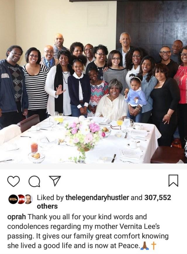 Oprah Winfrey finally addresses her mother